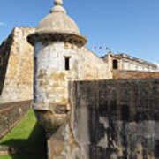 Walls Of San Cristobal Fort San Juan Puerto Rico  Art Print by George Oze