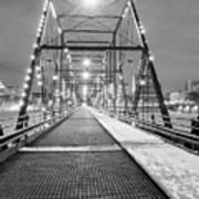 Walnut St. Bridge At Night Art Print