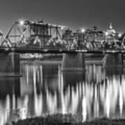 Walnut Street Bridge And Capitol Art Print
