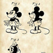 Walt Disney Mickey Mouse Patent 1929 - Vintage Art Print