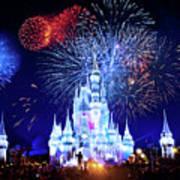Walt Disney World Fireworks  Art Print