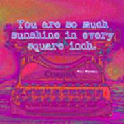 Walt Whitman Quote Typewriter Art Print