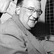 Walter O'malley President Of The Brooklkyn Dodgers. 1955 Art Print