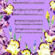 Waltz Of The Flowers Dancing Iris Art Print