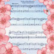 Waltz Of The Flowers Dancing Pink Art Print