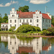 Wanas Castle And Reflection Art Print
