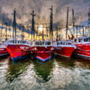 Wanchese Fishing Company Fleet Art Print