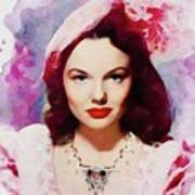 Wanda Hendrix, Vintage Movie Star Art Print