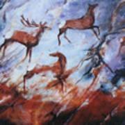 Wapiti- Petroglyph Art Print