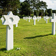 War Crosses In Normandy Art Print