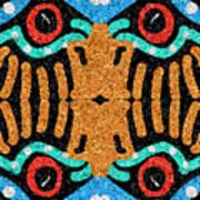 War Eagle Totem Mosaic Art Print
