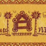 Warli Ceremony Art Print