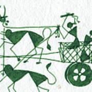 Warli Farmers In Bullock Cart Art Print