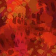 Warm Abstract 1 Art Print