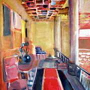 Warm Balcony Art Print