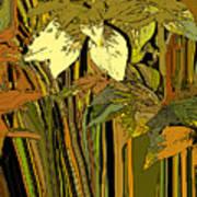 Warm Leaves Art Print