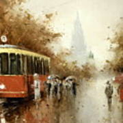 Warm Moscow Autumn Of 1953 Art Print
