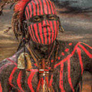 Warpath Shawnee Indian Art Print by Randy Steele