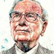 Warren Buffett Portrait Art Print