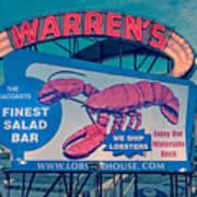 Warrens Lobster House Neon Sign Kittery Maine Art Print
