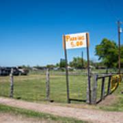 Warrenton Texas Antique Days Park Here Art Print