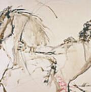Warrior In Light Brown Art Print