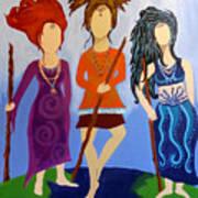 Warrior Woman Sisterhood Art Print
