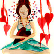Warrior Woman - Tend To Your Heart Art Print