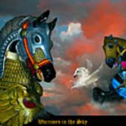 Warriors in the sky Art Print