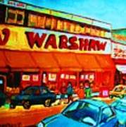 Warshaws Fruitstore On Main Street Art Print