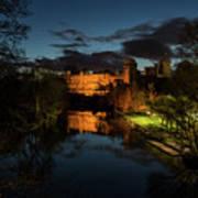 Warwick Castle At Night Art Print