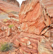 Wash 3 Of Valley Of Fire Art Print