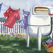 Wash Day Blues Art Print