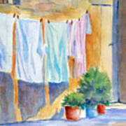 Wash Day In Marsaxlokk Art Print