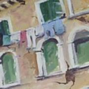 Washday In Venice Art Print