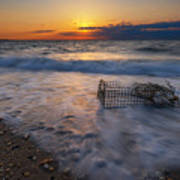 Washed Up Crab Cage 16x9 Art Print
