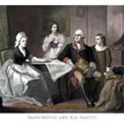 Washington And His Family Art Print