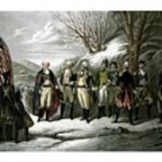 Washington And His Generals  Art Print