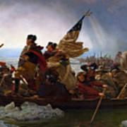 Washington Crossing The Delaware Painting - Emanuel Gottlieb Leutze Art Print