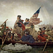 Washington Crossing The Delaware River Art Print by Emanuel Gottlieb Leutze