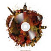 Washington Dc Skyline Vinyl 7 Art Print