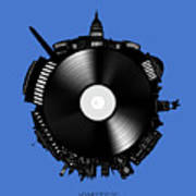 Washington Dc Skyline Vinyl 9 Art Print