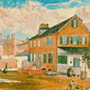 Washington D.c. Square 1874 Art Print