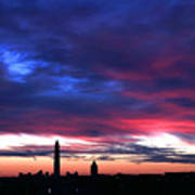 Washington Monument Dramatic Sunset Art Print