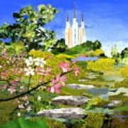 Washington Dc Temple Art Print by Robin Birrell