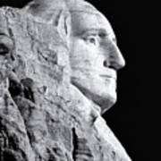 Washington Granite In Black And White Art Print