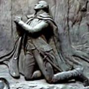 Washington Kneeling In Praying Art Print