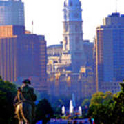 Washington Looking Over To City Hall Print by Bill Cannon