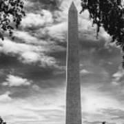 Washington Monument Black And White Art Print