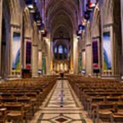 Washington National Cathedral Interior Art Print
